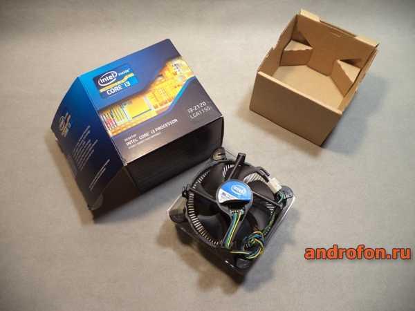 Боксовая система охлаждения Intel.