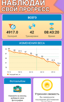Тренировки сжигание жира - Худеем за 30 дней дома скриншот 2