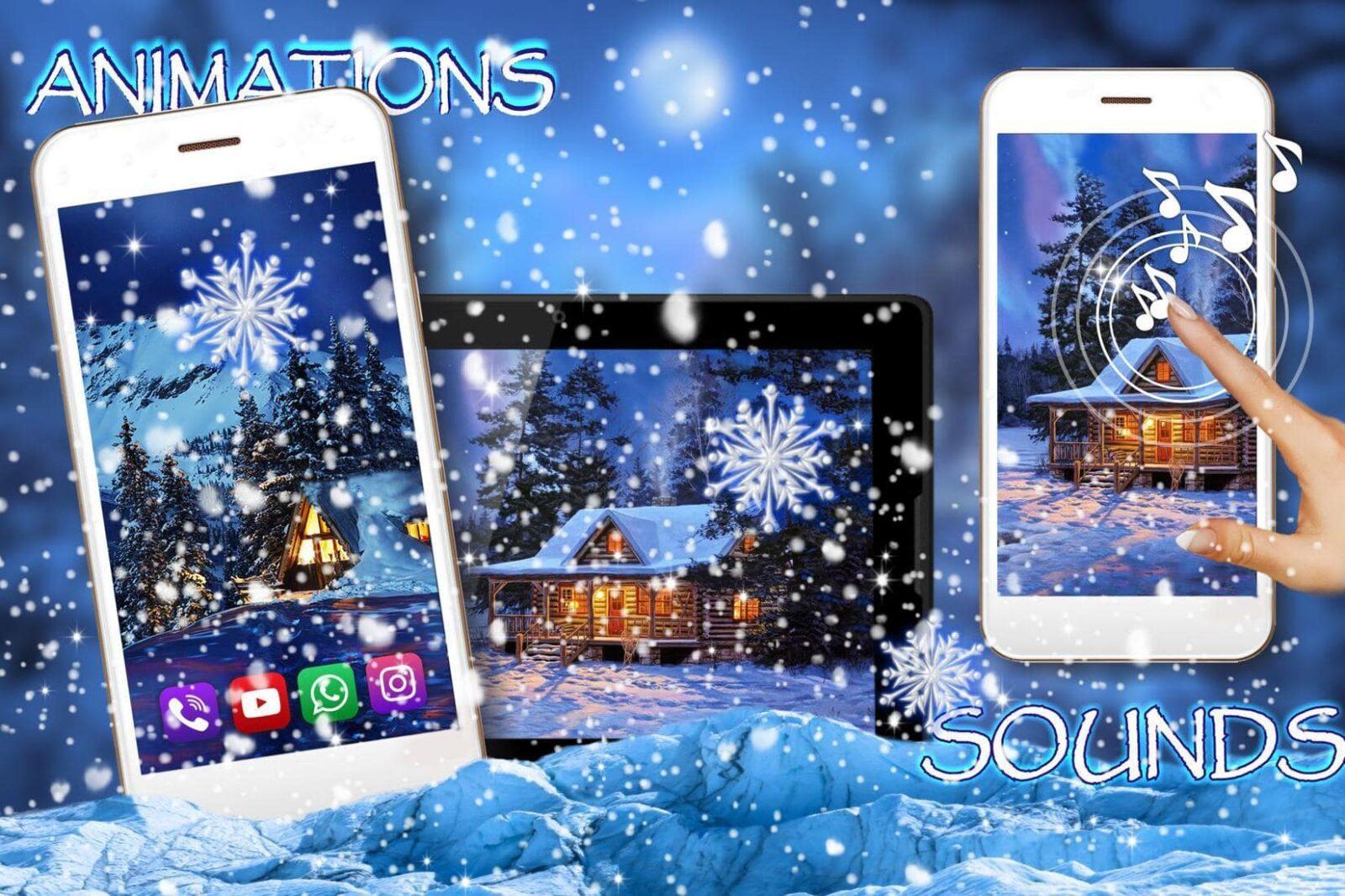 Зима, Снежная Ночь скриншот 4
