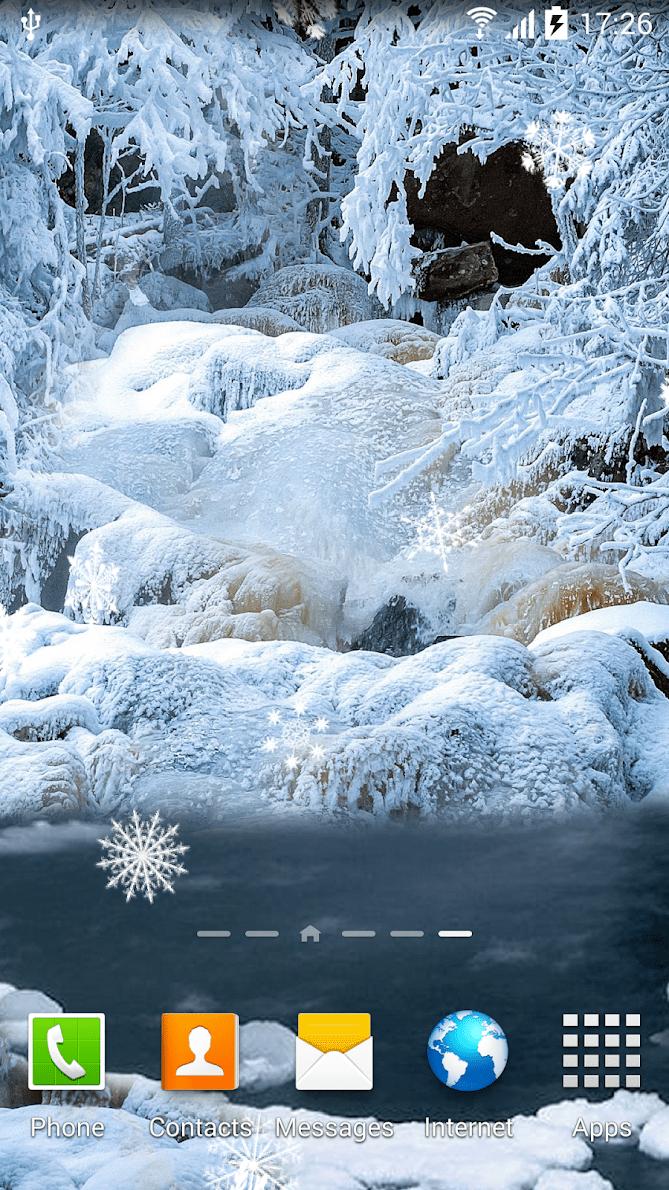 Зимние водопады скриншот 1