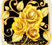 Золотая бриллиантовая роза logo