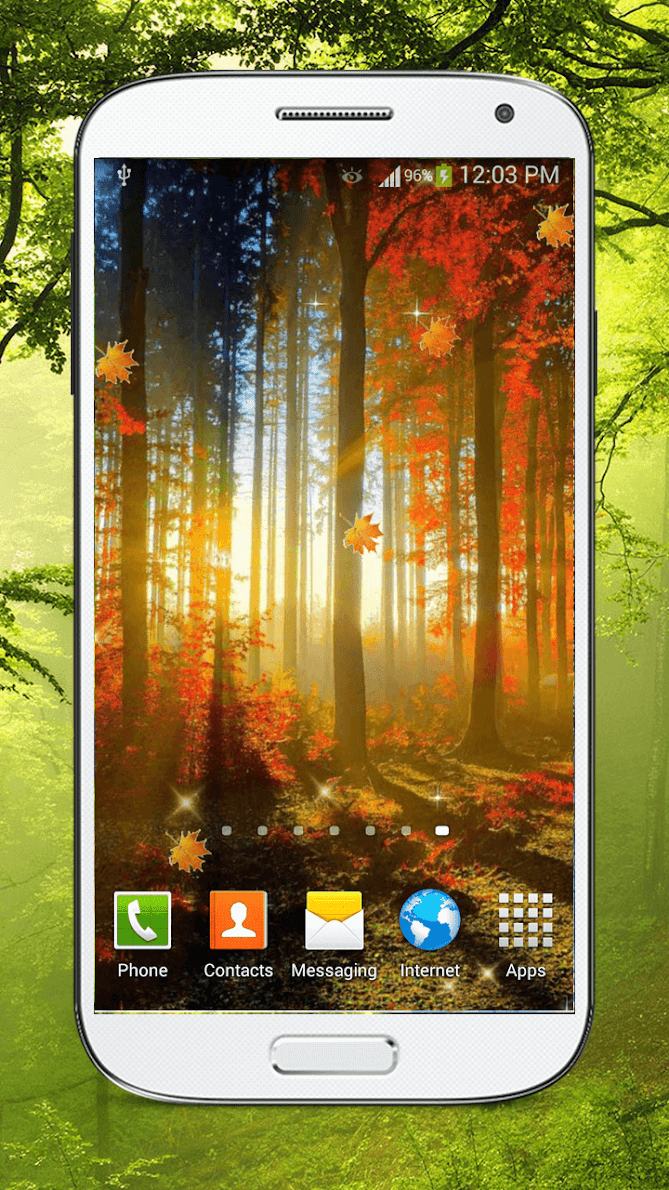 Лес живые обои HD скриншот 2