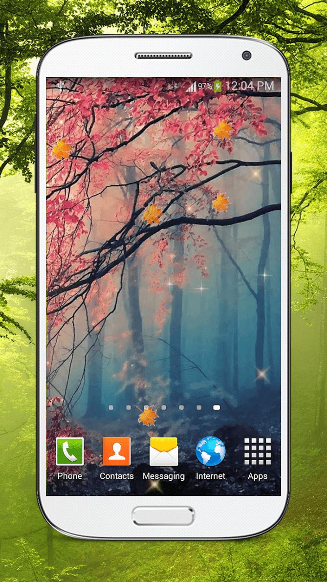 Лес живые обои HD скриншот 3