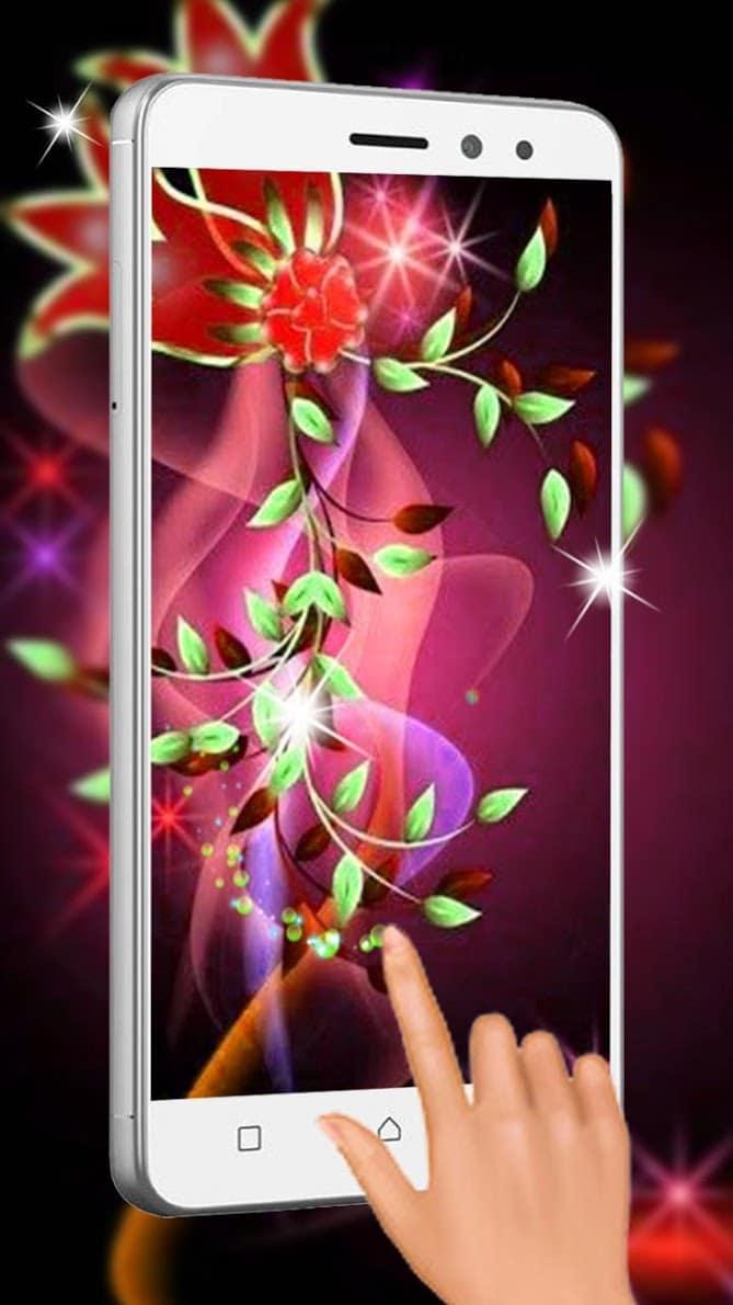 Неоновые цветы скриншот 1