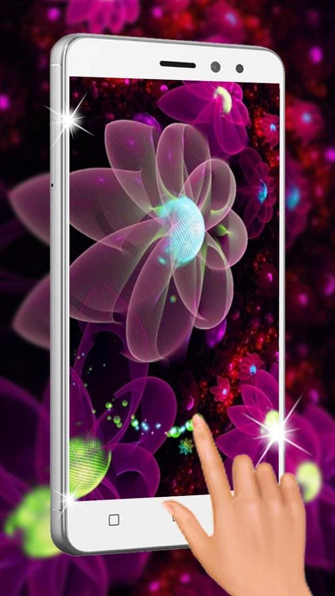 Неоновые цветы скриншот 3