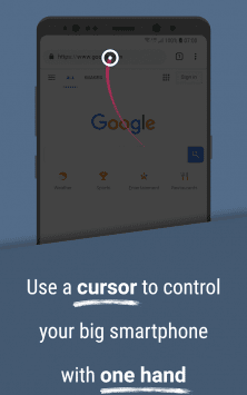 Reachability Cursor: one-handed mode mouse pointer скриншот 1