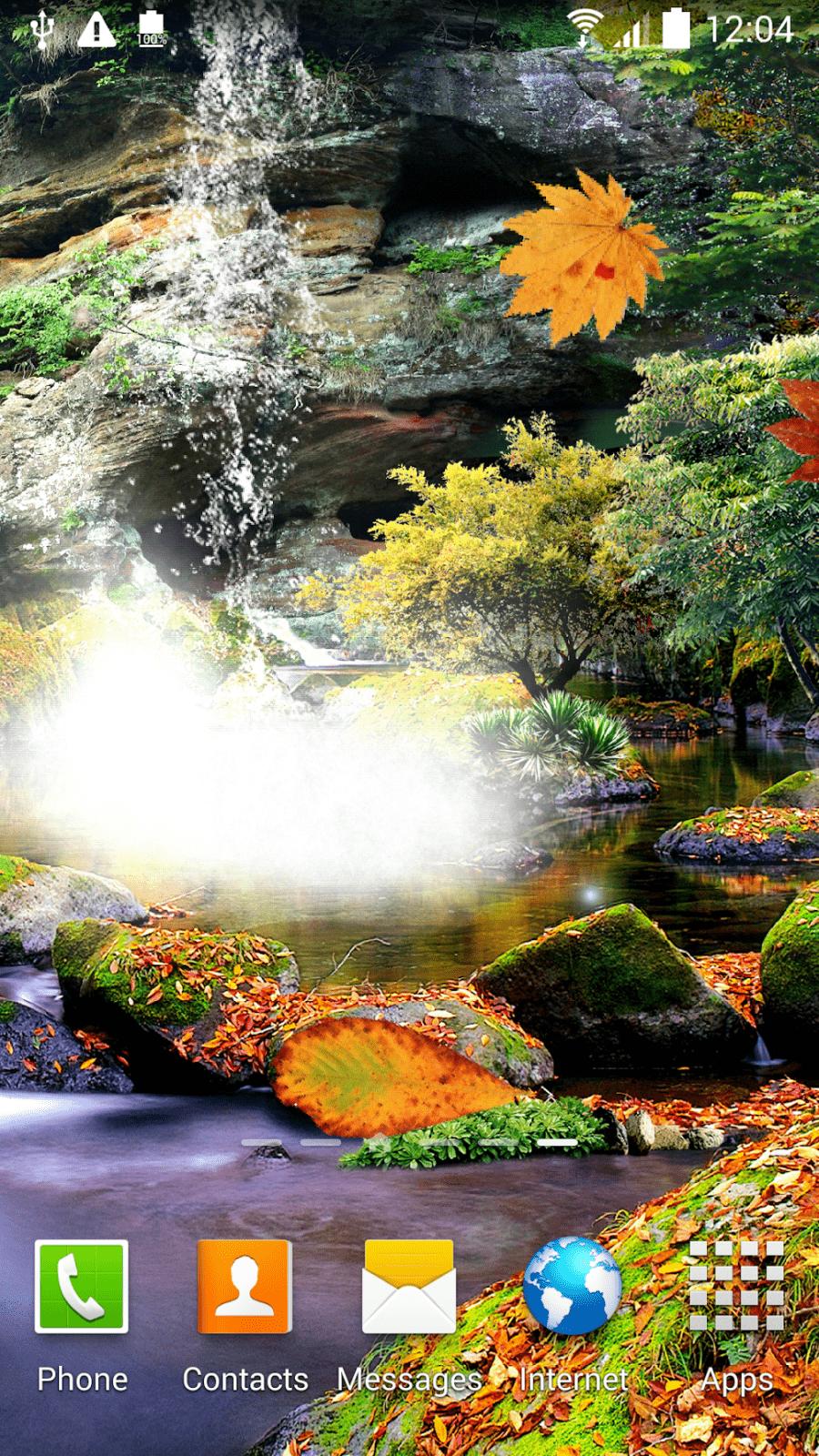 3D Осенний Водопад скриншот 2
