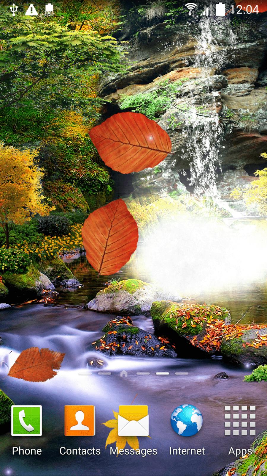 3D Осенний Водопад скриншот 3