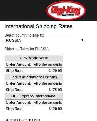 Стоимость прямой доставки из США в РФ.