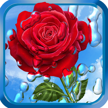 Летний дождь, цветы HD logo