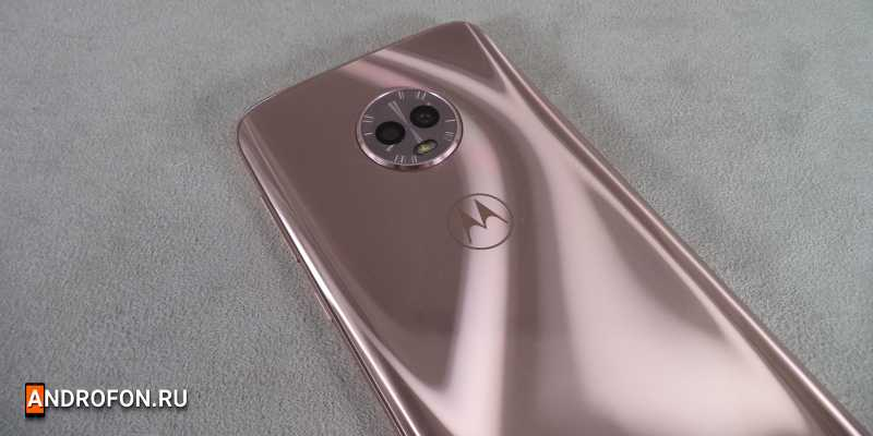Двойная камера Moto G6.