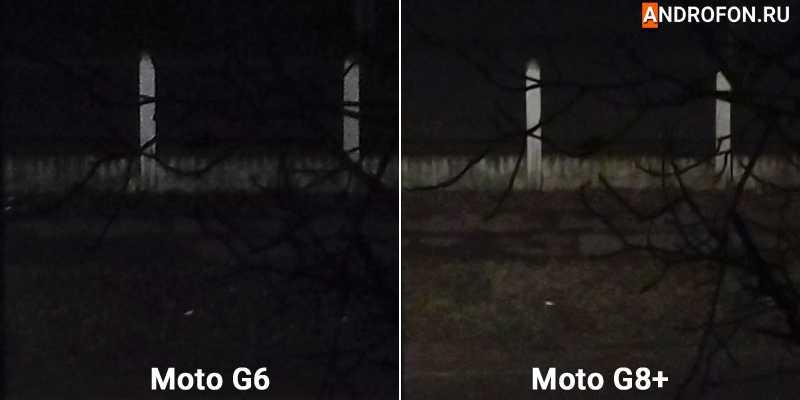 Ночной снимок с увеличением.