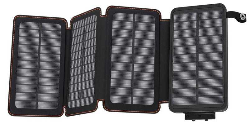 Solar Charger Hilucke с встроенным УМБ на 25 000 мАч.