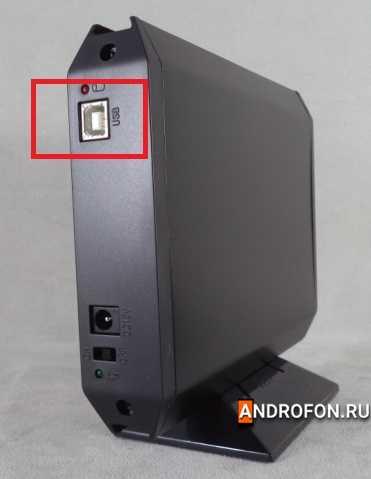 USB type B в кармане для внешнего жесткого диска AgeStar SUB3A5.