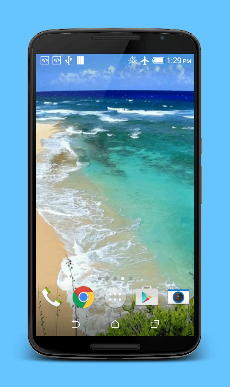 Волны на пляже скриншот 2