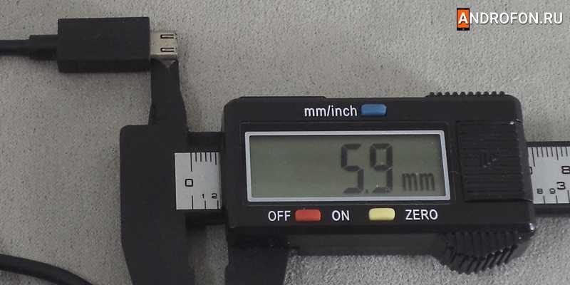 Длина штекера 5.9 мм.