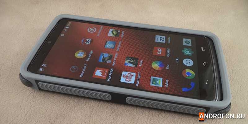Motorola Droid Turbo с закаленным стеклом.