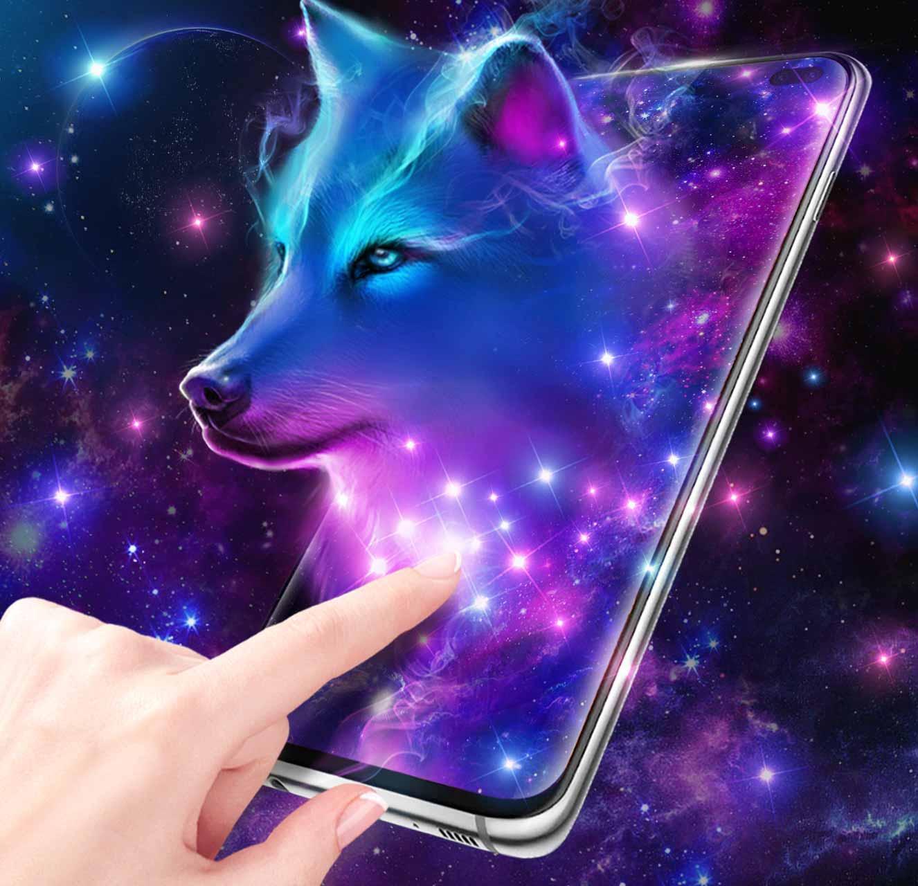 Волк в ночном небе скриншот 3