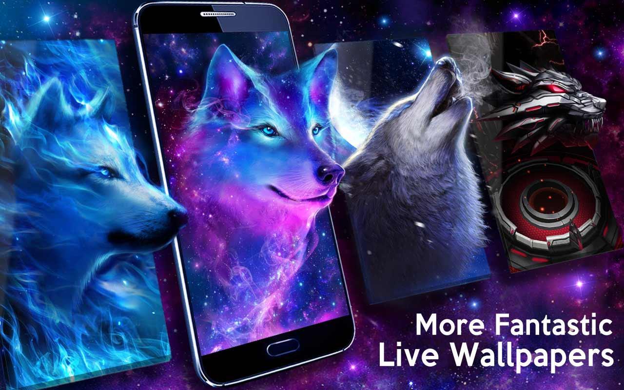 Волк в ночном небе скриншот 4