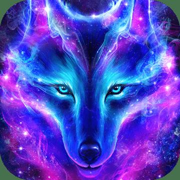 Волк в ночном небе logo