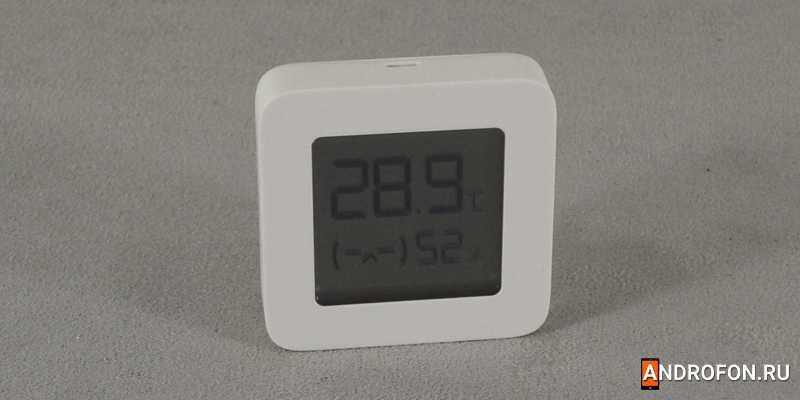Xiaomi Mijia Bluetooth Thermometer 2 - гаджет измеряет температуру и влажность одновременно.