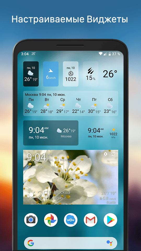 Pogoda Vidzhet скриншот 3