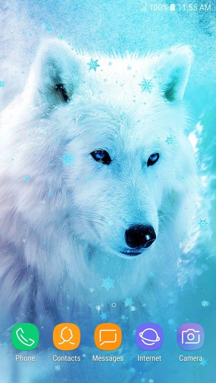 Ледяной Волк Live Wallpaper HD