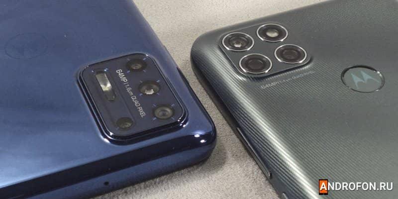 Модули основной камеры Motorola G9 Plus и Motorola G9 Power.